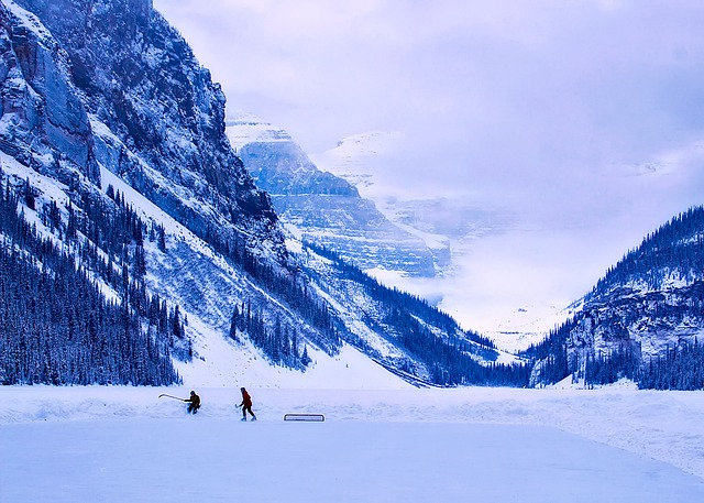 zamrzlé jezero