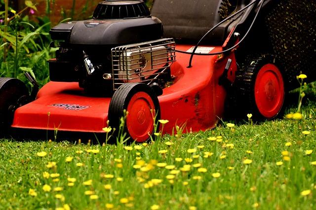 řez trávníku