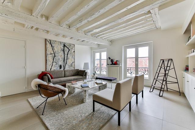 útulný interiér obývacího pokoje